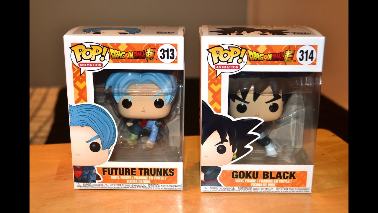 Whis Amination Zamasu Goku Black Future Trunks Dragon Ball Super Funko Pop Set of 4