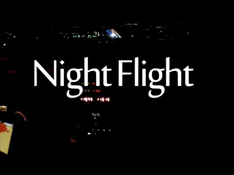 Night Flight Cessna Skyhawk II - 1981 172p - KFLY KCOS / 172 Flying Adventure