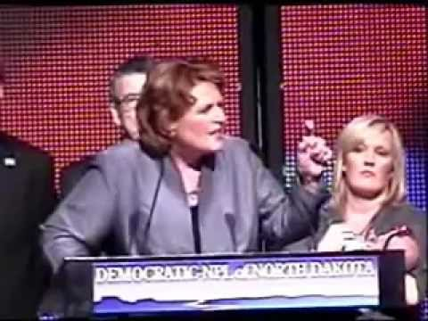 Heitkamp Blasts Berg & Schafer At ND Dem-NPL Convention