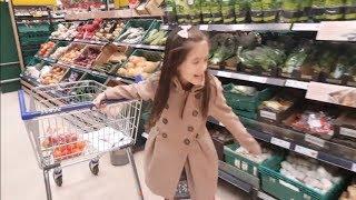 Doing Shopping at the Supermarket-Big Shopping Cart-Naty TubeFun