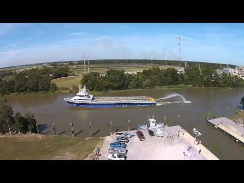 Gulf Craft Hull No. 479 Fire Monitor Testing