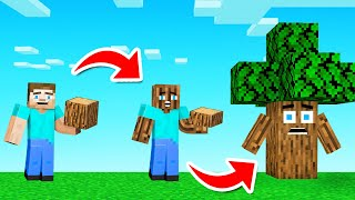 Minecraft BUT You Can EAT Any BLOCK! (weird things happen)