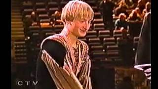 2000 Worlds fluff - intro about Plushenko before SP (CTV)