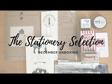 The Stationery Selection December Unboxing