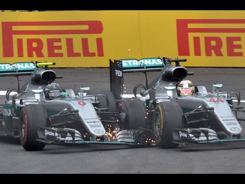 Rosberg And Hamilton Clash On Last Lap | Austrian Grand Prix 2016