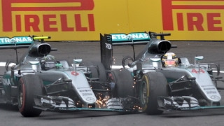 Rosberg And Hamilton Clash On Last Lap   Austrian Grand Prix 2016