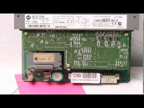 Allen Bradley - SLC500 CPU MODULE SLC 5/04 64K USER MEMORY 1747-L543  Repaired at Synchronics - YouTube