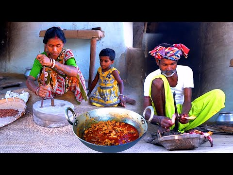 They are cooking Duck Curry purely Santali village style | Tribal Traditional Duck gravy recipe