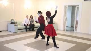 14 февраля. Романтический танец для молодоженов в Солигорске