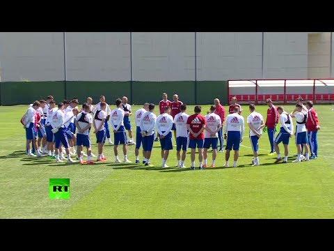 Сборная России по футболу провела тренировку в Новогорске