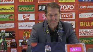 Pressekonferenz mit ÖFB-Teamchef Foda nach Österreich vs. Nordirland