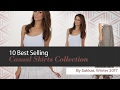 10 Best Selling Casual Skirts Collection By Sakkas, Winter 2017