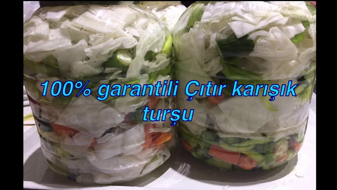 Doğrama Turşu Tarifi Videosu