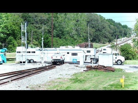 Horse Trailer Truck Stuck On CSX Train Tracks