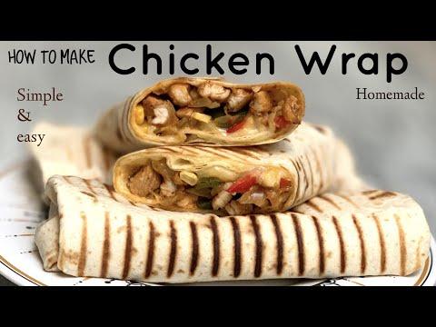 Chicken Wrap, Restaurant Style Chicken Wrap Recipe in Lock Down