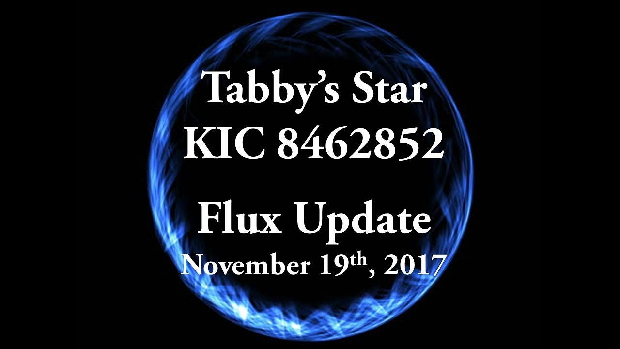 Tabbys Star KIC 8462852 Flux Update For November 19 2017