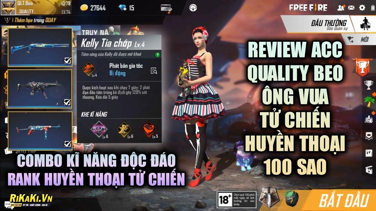 Free Fire | Review Acc QLT Beo Ông Vua Tử Chiến Việt Nam Huyền Thoại 100 Sao | Rikaki Gaming
