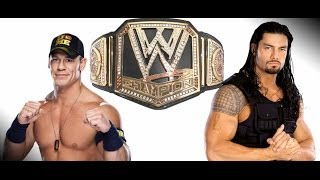 John Cena vs. Roman Reigns - WWE Championship Match Action Figure Extravaganza Match # 1