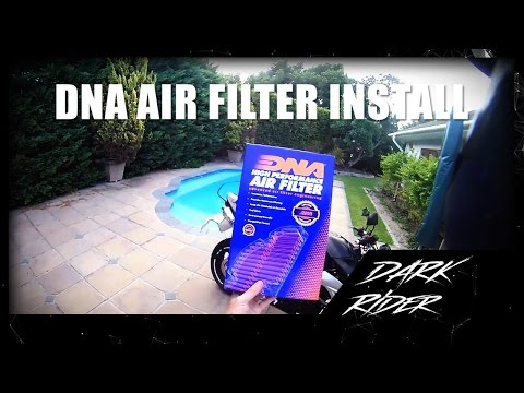DNA Air filter install on a Suzuki GSR 600