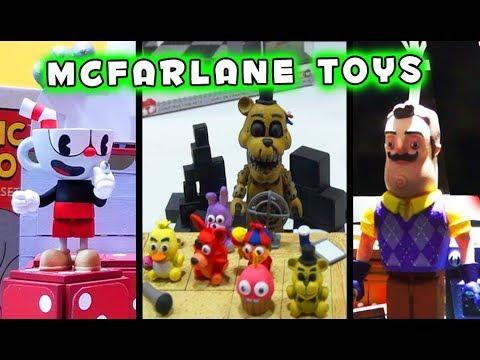FNAF Mcfarlane Toys Five Nights at Freddy's Cuphead Hello Neighbor Fortnite Roundup thumbnail
