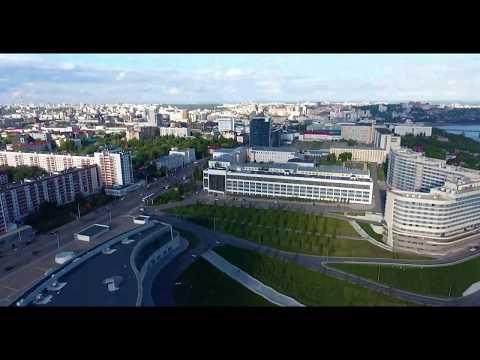 Ufa, Russia drone footage
