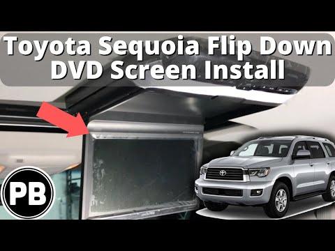2008 - 2018 Toyota Sequoia Alpine DVD Screen Install PKG-RSE3DVD