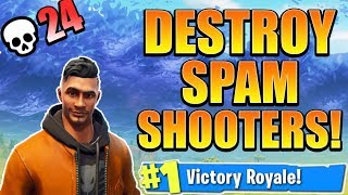 BEST way to Counter SPAM SHOOTING! How to WIN in Fortnite! (Console Fortnite BEST Tips and Tricks)