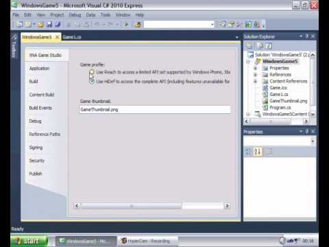 Demonstration on how to fix the XNA Microsoft visual studio direct3D error