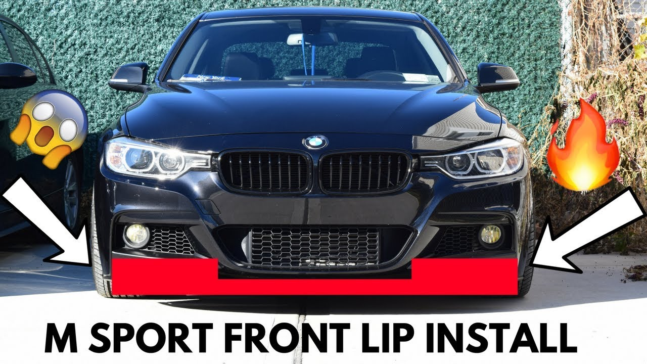 Bmw F30 M Sport Front Lip Install Youtube