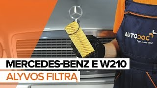 Montavimo Alyvos filtras MERCEDES-BENZ E-CLASS: vaizdo pamokomis