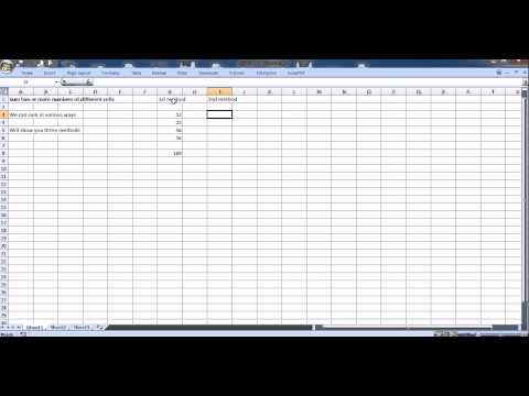 Excel Tutorial : Sum numbers of different cells in various ways