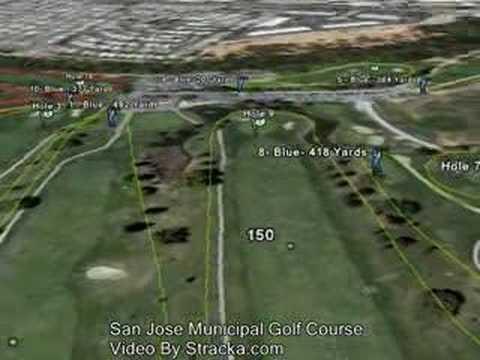 San Jose Municipal Golf Course Flyover Tour  YouTube