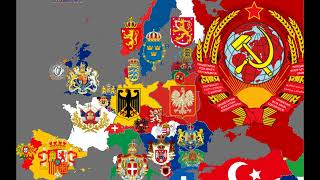 Europe national coats of arms in the last 200 year...