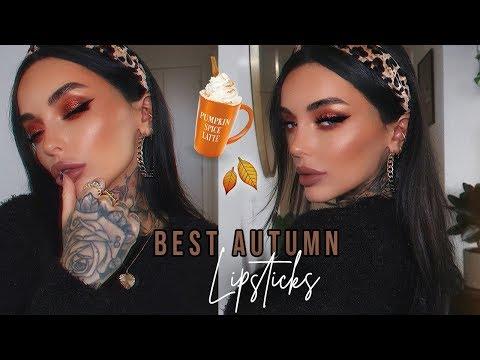 TOP AUTUMN/FALL LIPSTICKS YOU WILL LOVE! 2019 🍁 | BELLE JORDEN thumbnail