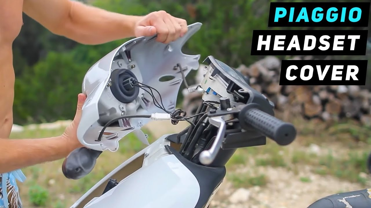 piaggio fly - headlight / handlebar cover removal - youtube
