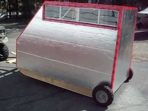 portable ice fishing shack - youtube
