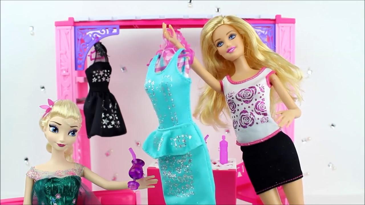 poupe barbie avec la reine des neiges film de robes des disney princesses