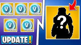 *NEW* Fortnite Update! | 20,000 VBucks Reward, In Game Rhino Skin, POI Deleted!