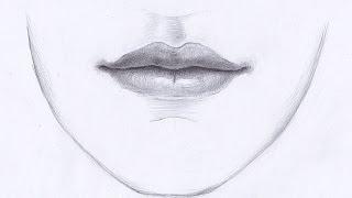 Как рисовать ГУБЫ ЧЕЛОВЕКА карандашом. Урок 59. How to draw lips(Изучим, как нарисовать губы карандашом. How to draw lips. В данном уроке рассматриваются правила передачи объёма..., 2015-04-04T17:39:30.000Z)