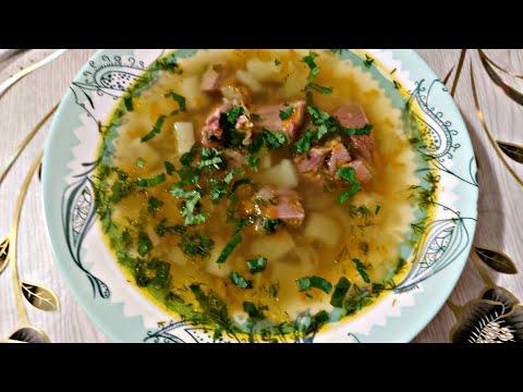 Суп гороховый с копченостями в мультиварке редмонд.