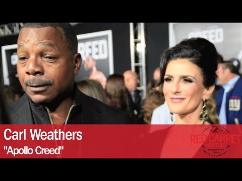 Carl Weathers interviewed at the Los Angeles Movie Premiere of Creed #CREEDPremiere