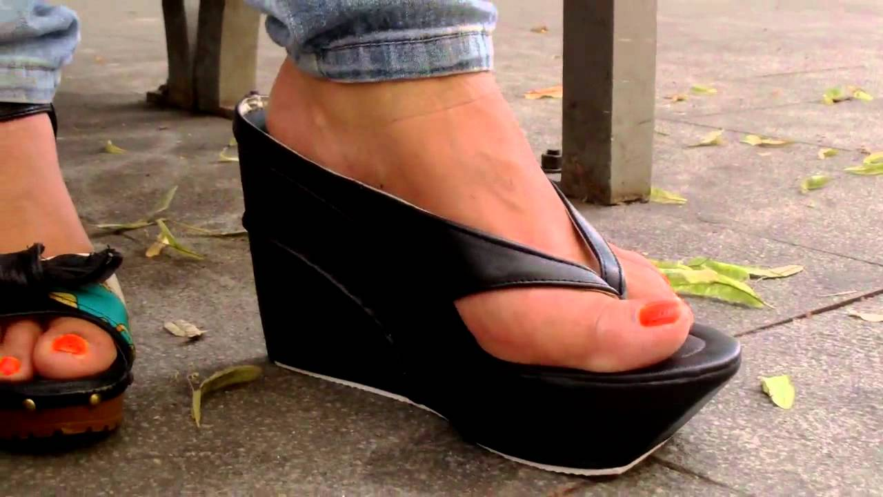 platform thongs mature - youtube