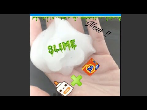 How to make slime with laundry detergent powder