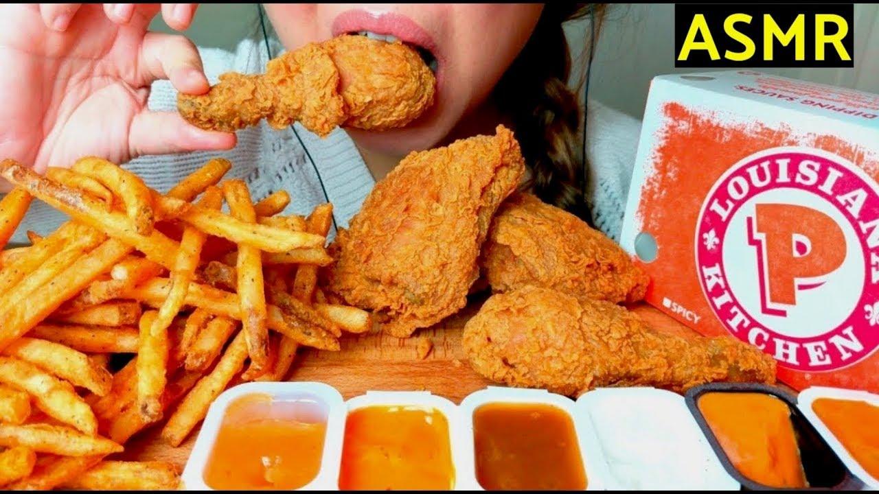 Crunchy asmr popeyes fried chicken cajun fries no - Kentucky french chicken ...