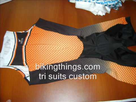 custom orange tri suit, custom last name on tri suit, triathlon