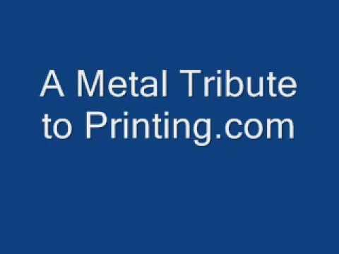 Printing.com Metal Business Card Tribute