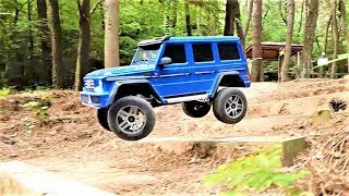 RC Car Traxxas TRX4 Mercedes Benz G500 Off-Road Bash Action
