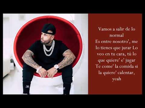Te Robaré ft. Ozuna - Nicky Jam - (Lyrics)