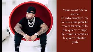 Te Robaré ft. Ozuna - Nicky Jam - (Lyrics)