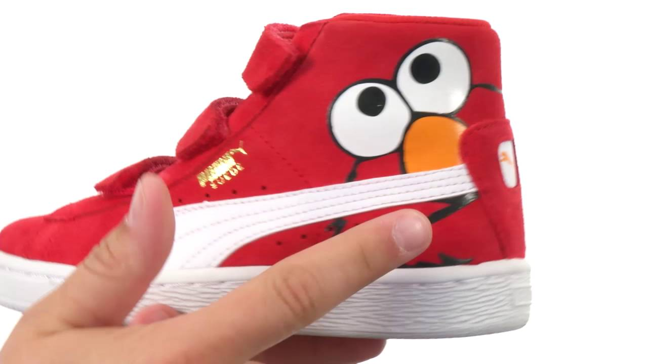 4a3001e09eac Puma Kids Suede Mid Sesame Elmo V PS (Little Kid Big Kid) SKU 8711310